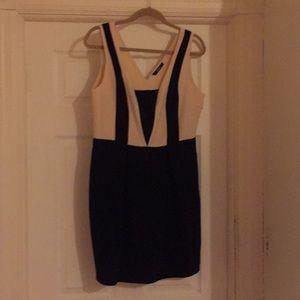 Black and cream short dress